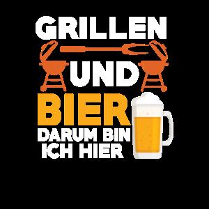 Grillen und Bier darum bin ich hier Bierliebhaber