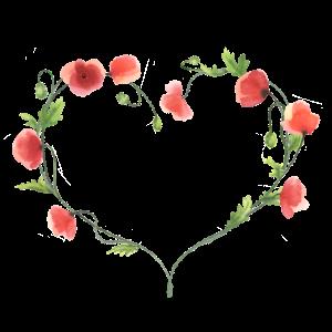 Mohnblumen-Herz