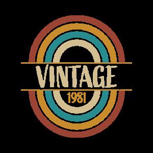 1981 Geburtstagsgeschenk Baujahr Geburtsjahr 81