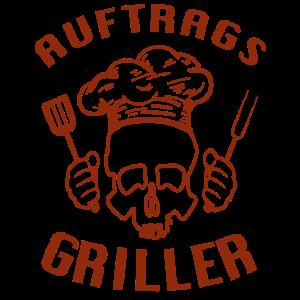 Auftrags Griller Totenkopf - Barbecue Grill Joke