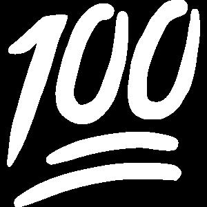 Emoji 100 Skizze weiß