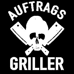 Auftrags Griller Totenkopf Barbecue Grillmeister