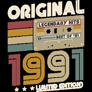1991 Original Jahrgang Geburtstag Retro Geschenk
