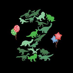 2. Geburtstag Dinosaurier Geburtstagsfeier