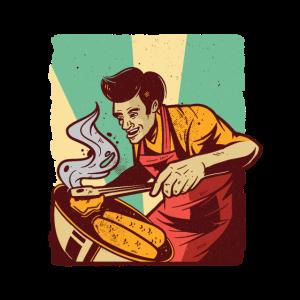 Grillen Mann Grillt BBQ