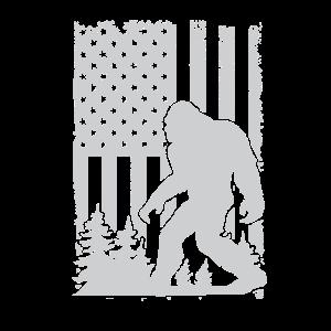 4. Juli USA Feier Bigfoot 1776