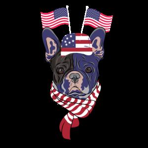 4. Juli USA Feier Lustige Hund