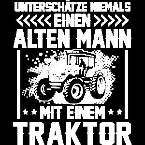 Unterschätze nie einen alten Mann mit Traktor