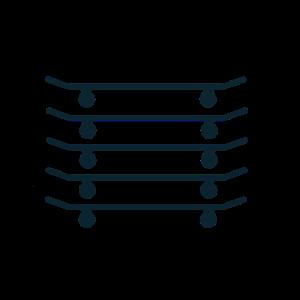 5 Boards parallel helligkeit