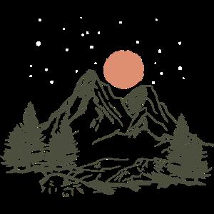 Berg Natur Zelten Camping sterne wald Geschenk