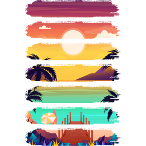 Sunshine, Palm Trees, Sea and Holidays