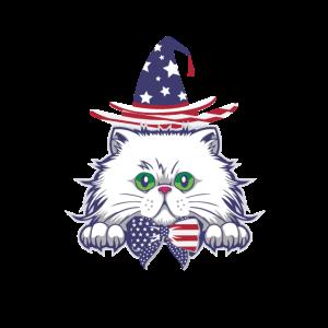 4. Juli Freiheit USA Patriotische Katze