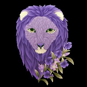 Lavendel Floral Löwe