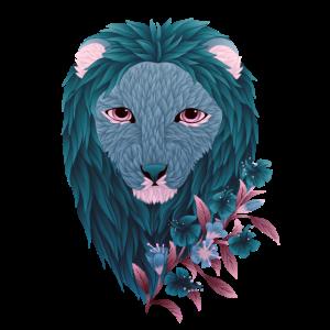 Petrol Floral Lion