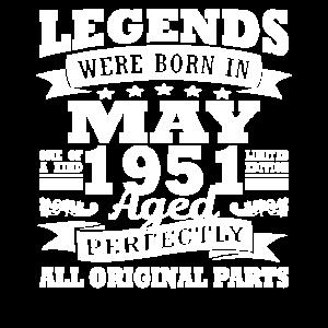 1951 Jahr Geburtstag Mai seit Mai 1951