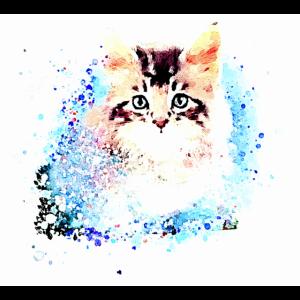 katze ,illustration ,bunt , Aquarell, kätzchen