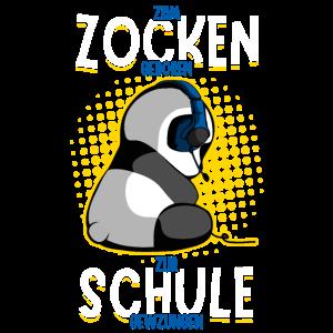 Gaming Panda Zockender Panda Bär Zocken Schule VG