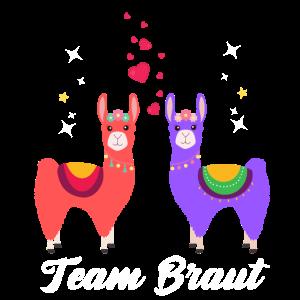 Team Braut Alpaka Verlobung Geschenk