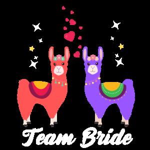 Team Bride Alpaka Verlobung Hochzeit Geschenk