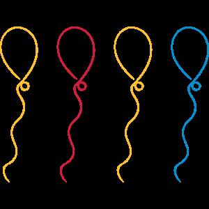 Luftballons Farbe Anpassbar