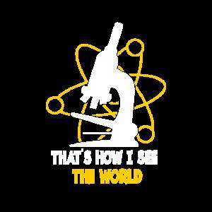 Wissenschaft Mikroskop Spruch