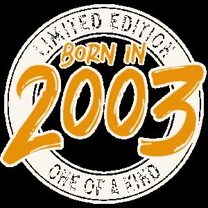 Jahrgang 2003 geborenGeburtstag Limitierte Auflage