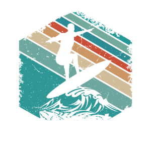 Surfer Surfen Wave Seeker Retro Beach