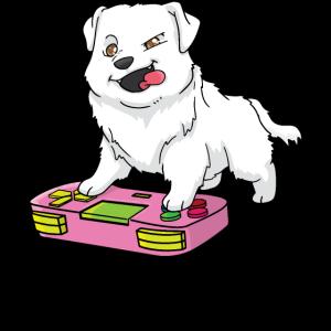 Pyrenäen-Sennenhund Gamepad Kawaii Gamer