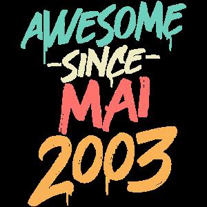 Jahrgang Mai 2003 geboren 18 Geburtstag 18 Jahre