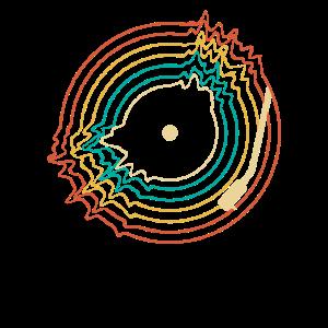 Retro Vinyl Schallplatte Plattensammler