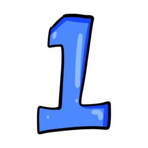 Ziffer 1 Blau - Nummer Eins