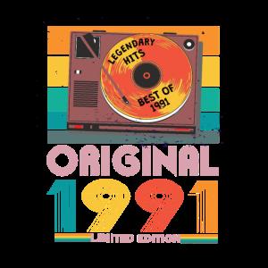 30. Geburtstag 1991 Retro Geschenk