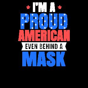 4. Juli 2020 Stolzer Amerikaner hinter Maske