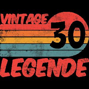 30 Geburtstag Dreißig Vintage Legende Geschenk