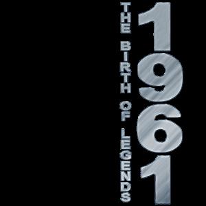 Vintage 1961 Geburtstag 1961The Birth Of Legends
