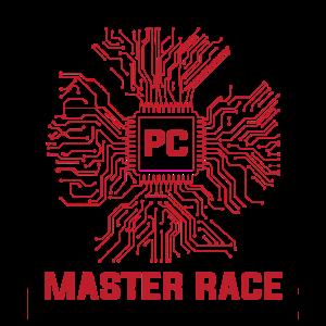 PC Master Race CPU Computer Gaming Geschenk Gamer