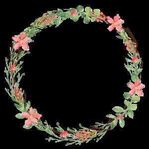 Blumen Kranz Kreis personalisierbar