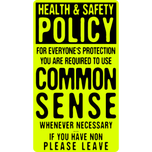 Health & Safety Policy Common Sense