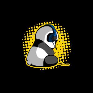 Zockender Gaming Panda Bär Eat Sleep Zocken Repeat