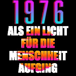 1976 Geburtstag Geschenk Alter Jahre Spruch bunt