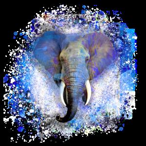 elefant,blau ,malerei,bunt,aquarell,graffiti