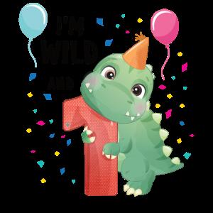 Geburtstag 1 Jahr Dinosaurier Dino 1. Geburtstag