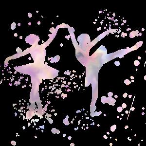 Zwei Ballerinas, Tänzerinnen in Pastellfarben
