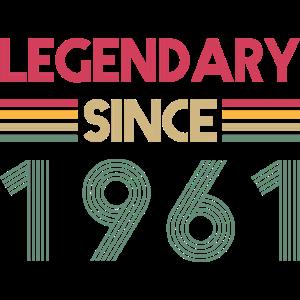 Legendär seit 1961 Geschenkidee Geburtstag