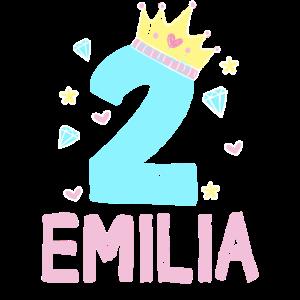 2. Geburtstag Emilia Ich Bin 2 Jahre Prinzessin