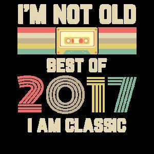 Vintage 2017 17 Geburtstag Retro Jahrgang Geschenk