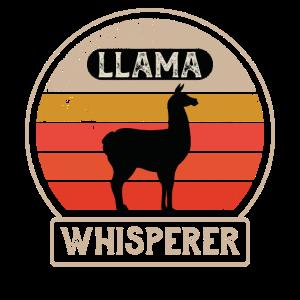 Alpaka Flüsterer Lama Retro Llama