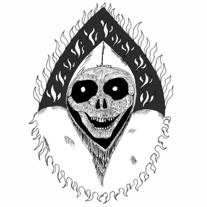 Grimp reaper blank text black & white