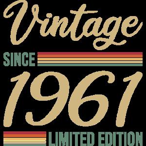 Vintage seit 1961 Limitierte Edition Geschenk
