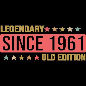 Legendär seit 1961 Alte Edition Lustiges Geschenk